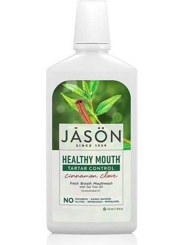 Jasons Natural Healthy Mouth Organic Tea Tree Cinnamon Mouth Wash
